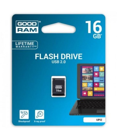 Pendrive Goodram UPI2 16GB USB MINI 2.0 blk - retail blister
