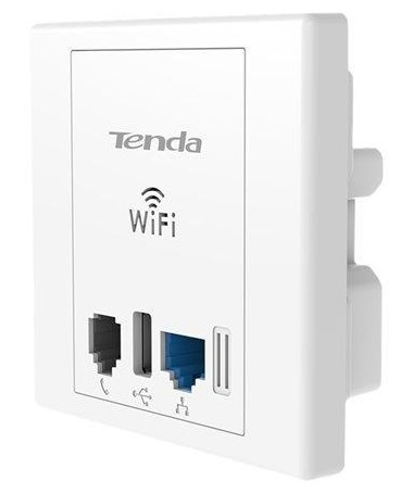 Wireless N300 Wall Plate Access Point con porta USB