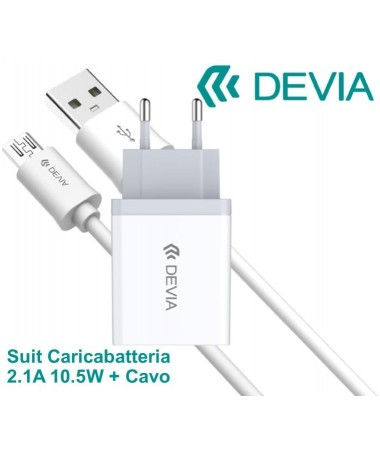 Suit Carica Batteria 2,1A e Cavo m-usb Android