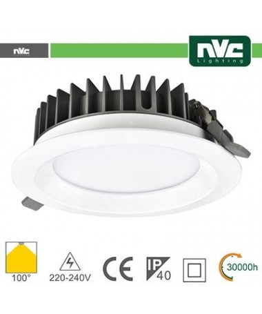 Downlight LED IP40 20W 5700K 1800LM 100º FORO:150mm