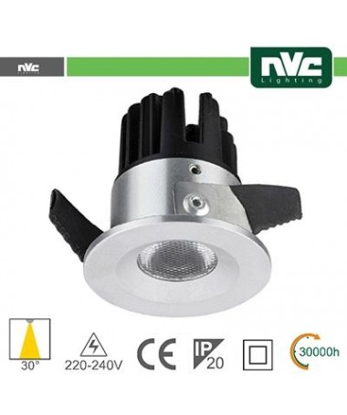 Punto Luce LED 2W 4000K 30° IP20 FORO:35mm