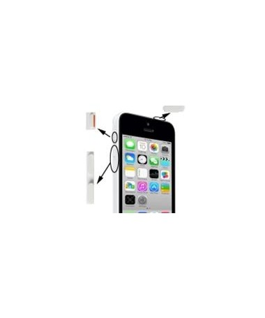 Set Pulsanti Power Mute Volume per iPhone 5C Bianco